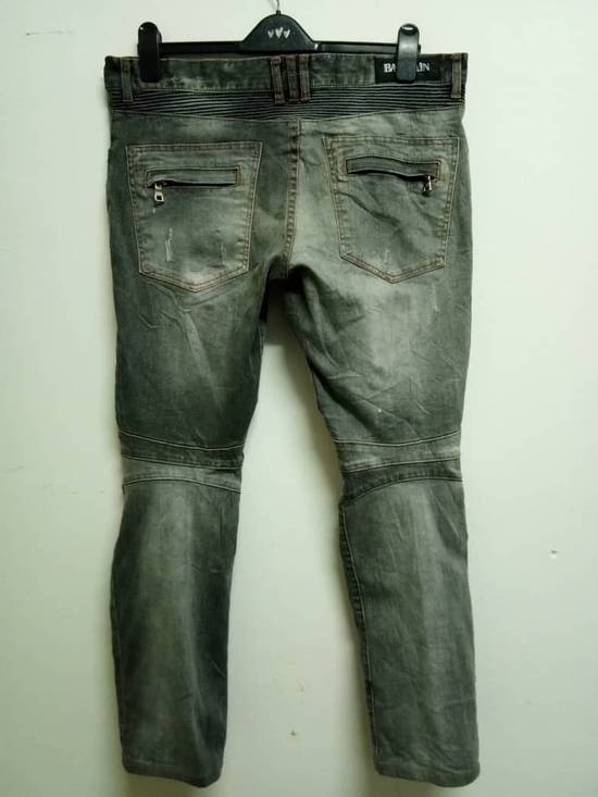 Balmain Rare Grey Balmain Denim Nice Faded Design Size US 36 / EU 52 - 1