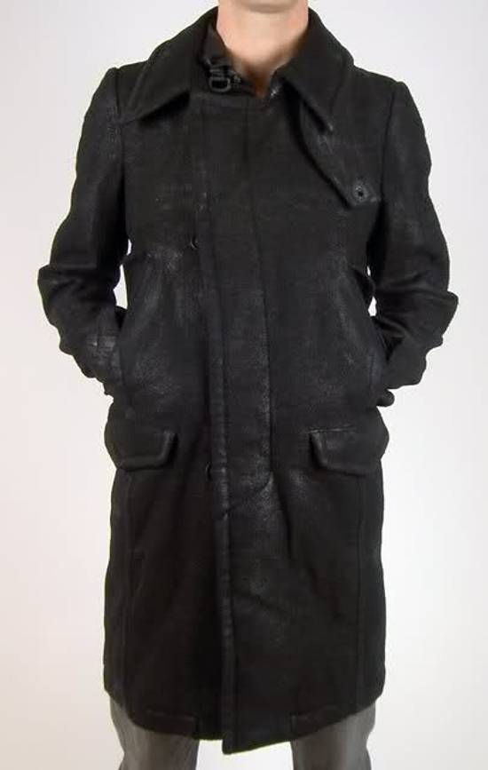 Julius Julius_7 Waxed Wool Peacoat Size US L / EU 52-54 / 3 - 4