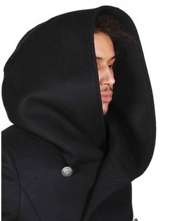 Balmain Black Peacoat Oversize Hood Wool Duffle 52 50 42 Black $4,889 New Size US L / EU 52-54 / 3 - 6