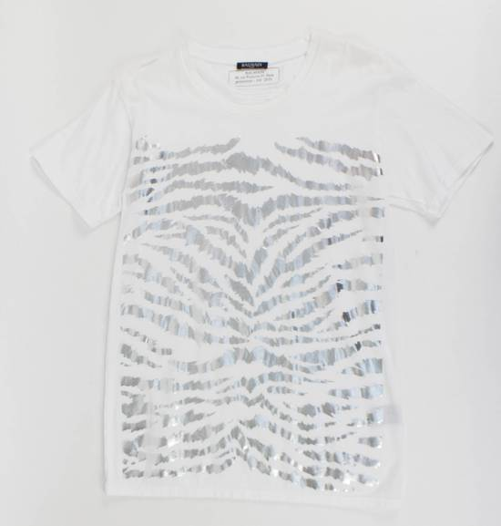 Balmain White Cotton Short Sleeve Embellished T-Shirt Size L Size US L / EU 52-54 / 3