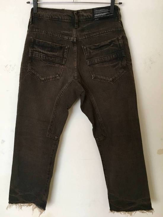 Julius Japan made cropped wrinkle and dirt effect distressed frayed hem Jeans Size US 28 / EU 44 - 2