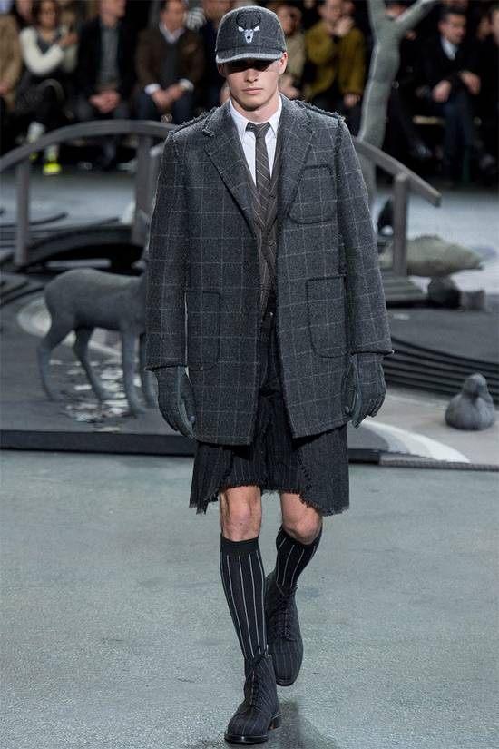 Thom Browne FW14 Runway Wool Kilt Shorts Size US 29 - 7