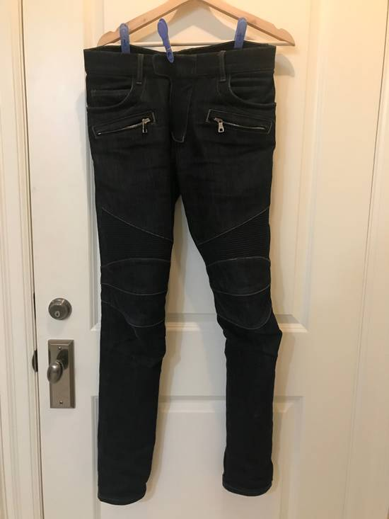 Balmain Raw Biker Denim Size US 32 / EU 48