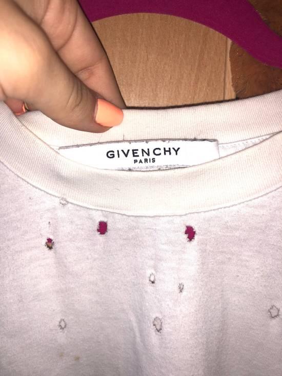 Givenchy Distressed White Tshir Size US L / EU 52-54 / 3 - 4
