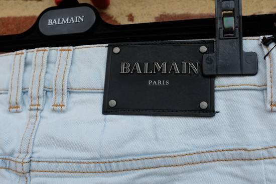 Balmain Light Blue Biker Jeans Size US 34 / EU 50 - 8