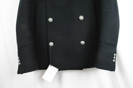 Balmain Black Peacoat Oversize Hood Wool Duffle 52 50 42 Black $4,889 New Size US L / EU 52-54 / 3 - 2