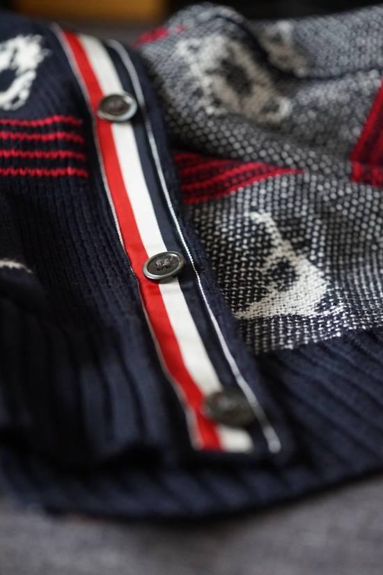 Thom Browne Thom Browne Fair Isle Cotton Cardigan in Navy, Red & White Size US M / EU 48-50 / 2 - 1