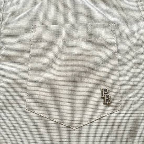 Balmain Tan Band Collar Metal Logo Shirt NWT Size US M / EU 48-50 / 2 - 7