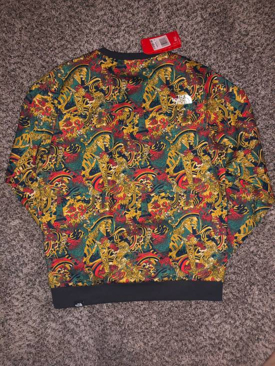 The North Face Fine Crew Sweatshirt Leopard Genesis Print