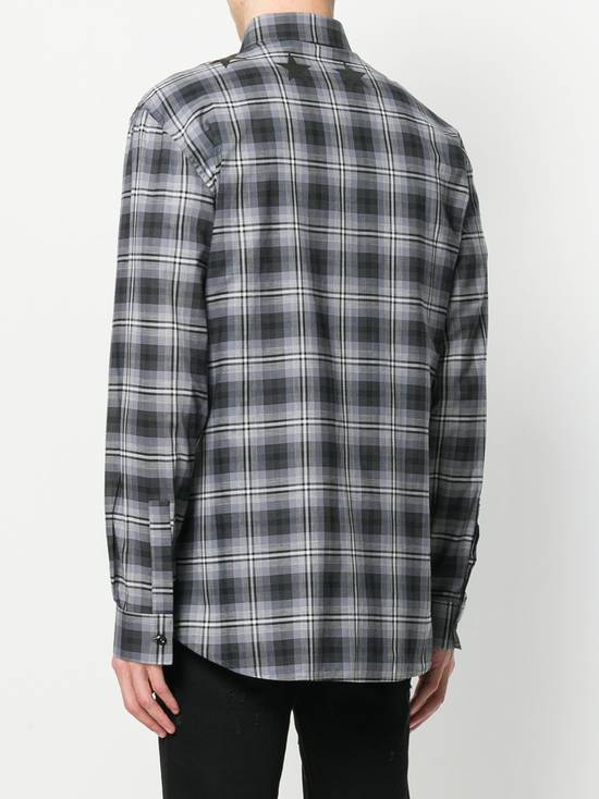Givenchy $520 Givenchy Star Checked Rottweiler Shark Slim Fit Shirt size 44 (XL) Size US XL / EU 56 / 4 - 3