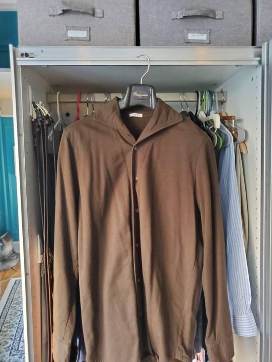 Eidos Napoli EIdos Lupo Brown Knit Button Up Shirt Size US M / EU 48-50 / 2