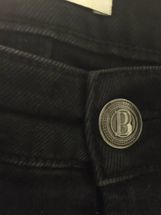 Balmain Balmain Faded Black Skinny Jeans Size US 32 / EU 48 - 5