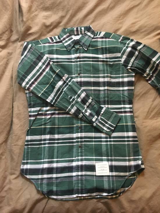 Thom Browne Plaid Oxford Cloth Button-Up Shirt Size US L / EU 52-54 / 3