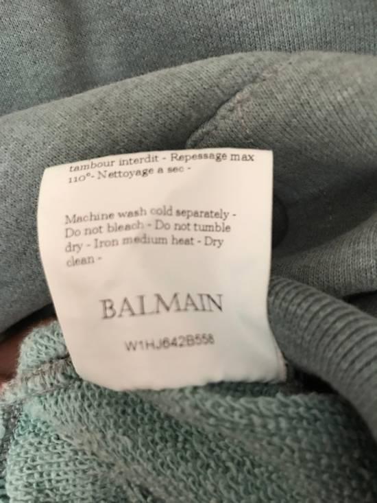 Balmain Teal Hoodie Size US M / EU 48-50 / 2 - 2