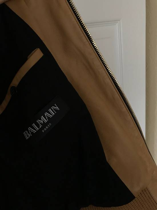 Balmain New $4155 Lambskin Leather Jacket Size US L / EU 52-54 / 3 - 10