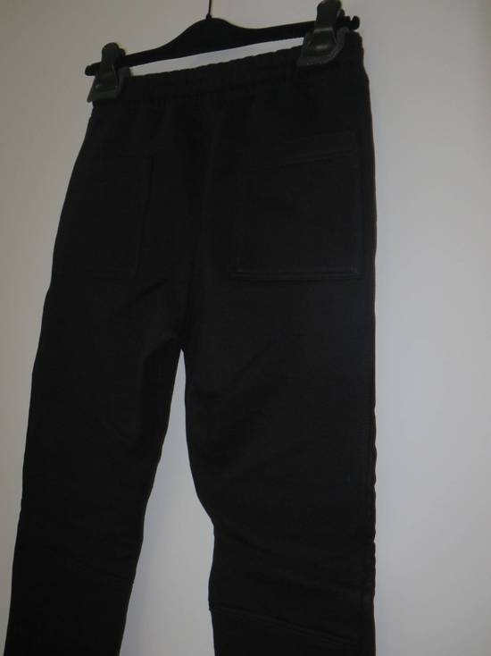Balmain Leather and cotton biker sweatpants Size US 32 / EU 48 - 6