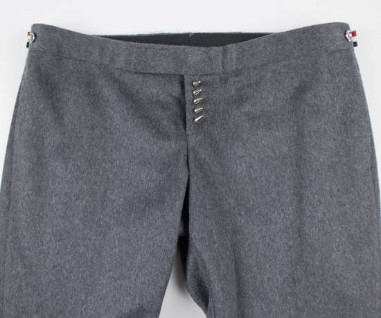 Thom Browne Gray Cashmere W/ Metal Spikes Casual Pants Size US 38 / EU 54 - 6
