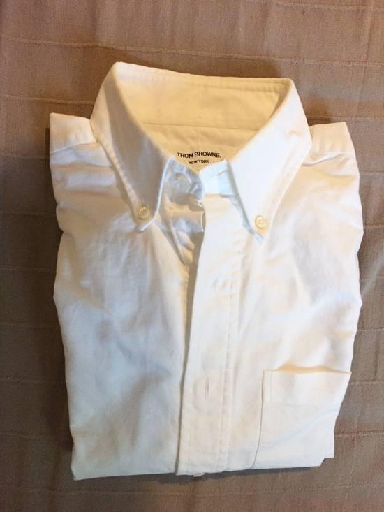 Thom Browne Heavy Cotton White Shirt Size US XL / EU 56 / 4
