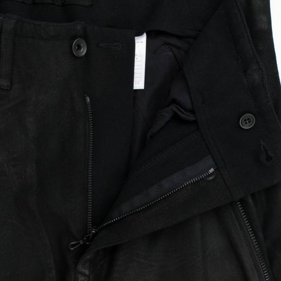 Julius 7 Black 'Coated Denim Stretch Zip Pocket' Baggy Jeans Pants 3/M Size US 34 / EU 50 - 2