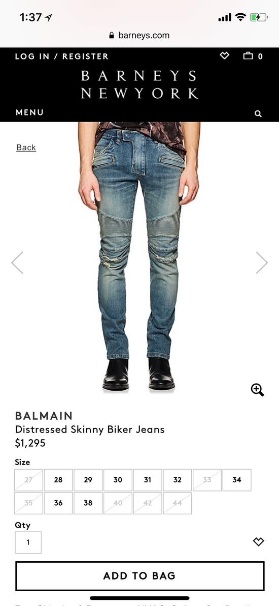 Balmain Balmain disrtressed biker jeans Size US 36 / EU 52 - 7