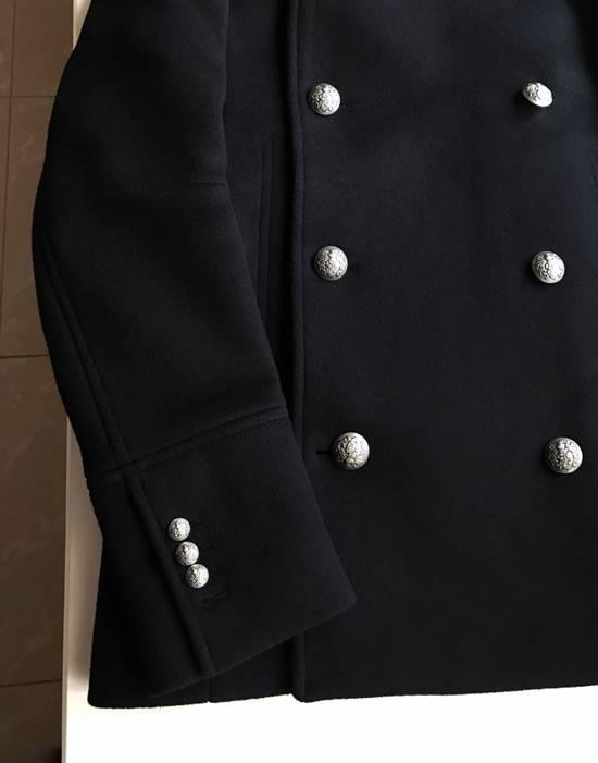 Balmain Balmain Black Wool Hooded Peacoat Size US L / EU 52-54 / 3 - 3
