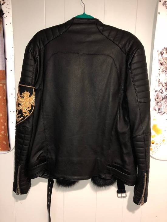 Balmain Fur Lined Leather Jacket Size US L / EU 52-54 / 3 - 2