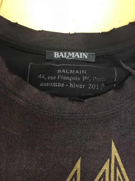 Balmain Balmain Distressed Batik Print Logo T-Shirt Size US XL / EU 56 / 4 - 3