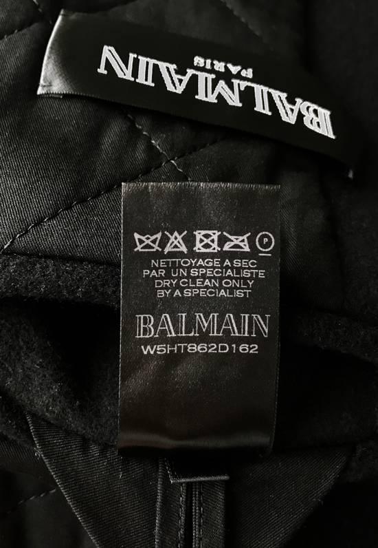 Balmain Balmain Black Wool Hooded Peacoat Size US L / EU 52-54 / 3 - 8