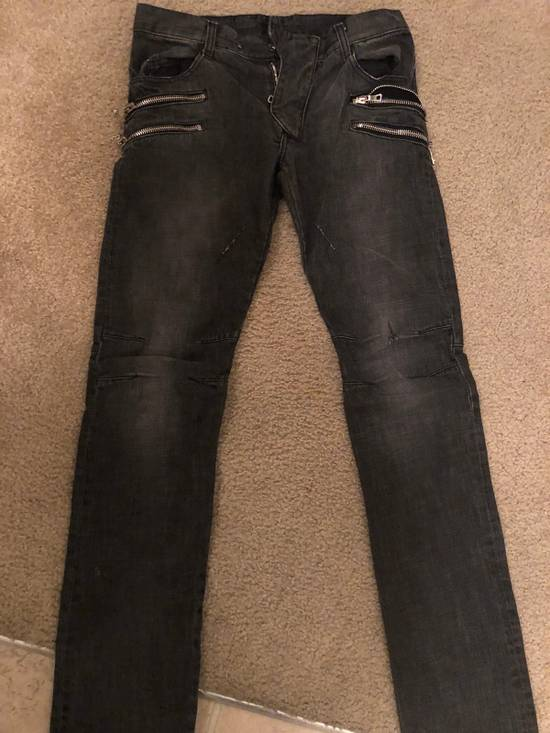 Balmain Balmain Oliver Era Biker Jeans In A Wash Grey Size US 29 - 9