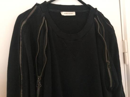 Balmain distressed asymmetrick zip sweatshirt Size US XL / EU 56 / 4 - 6