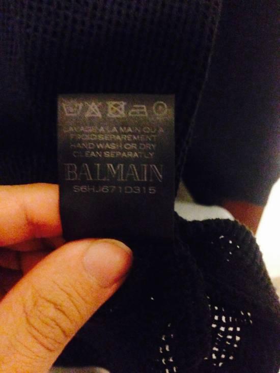 Balmain Balmain Black Mesh Cotton & Linen Long Sleeve Size US M / EU 48-50 / 2 - 5
