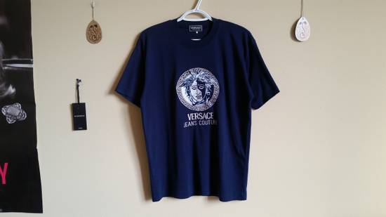 Versace Jeans Couture Medusa Head Greek Key Medallion Embroidered Tee Shirt Size US XL / EU 56 / 4 - 3