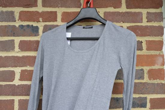 Balmain Grey Ribbed Long Sleeve T-shirt Size US M / EU 48-50 / 2 - 1