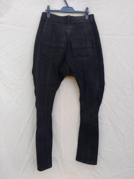 Julius Black Knit Denim Waxed Drop Crotch Jeans Size US 29 - 1
