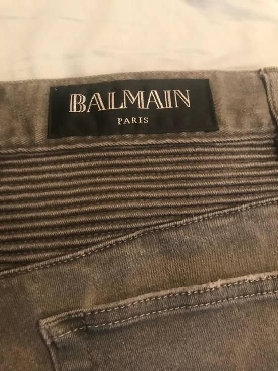 Balmain Grey Biker Jeans Size US 32 / EU 48 - 2