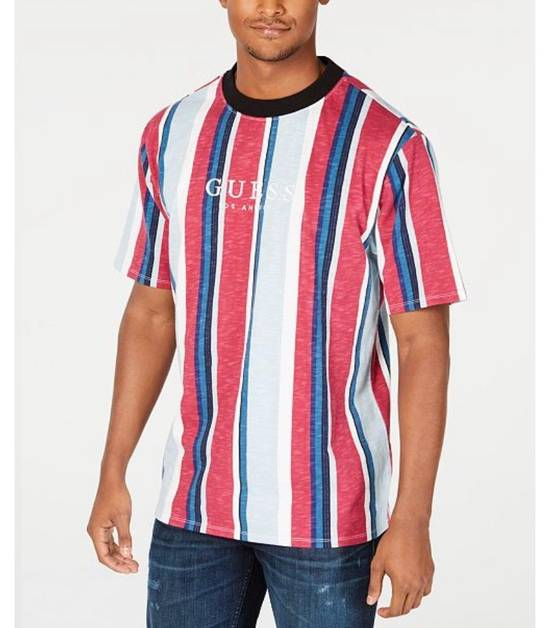 5ca4abbe Guess Guess Originals Striped Logo Tee Blue White Red Size L