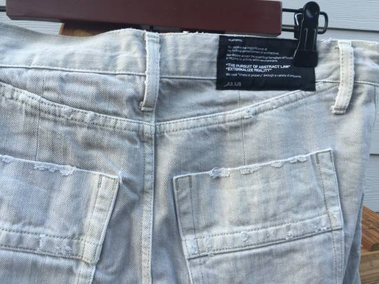 Julius SS09 Distressed J Cut Plaster Denim Size US 30 / EU 46 - 9