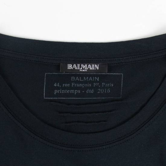 Balmain Black & Gold Cotton Short Sleeve Crewneck T-Shirt Size L Size US L / EU 52-54 / 3 - 4