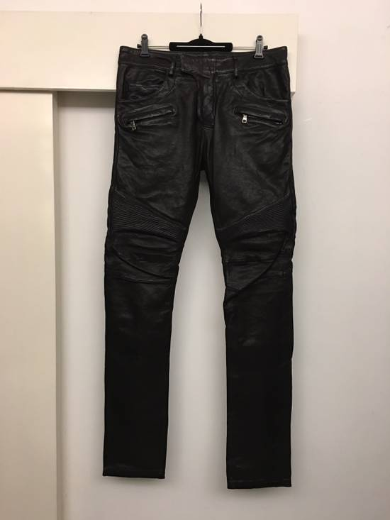 Balmain Brand New Leather Biker Jeans Size US 32 / EU 48