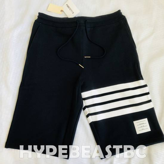 Thom Browne THOM BROWNE Classic Sweat Shorts 4-Bar Stripe Logo, TB Size 2, Navy, NWT, NO DROP ! Size US 32 / EU 48 - 5