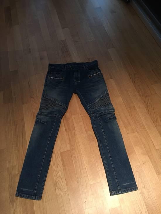 Balmain Balmain Light/Dark Blue Biker Jeans Size US 33