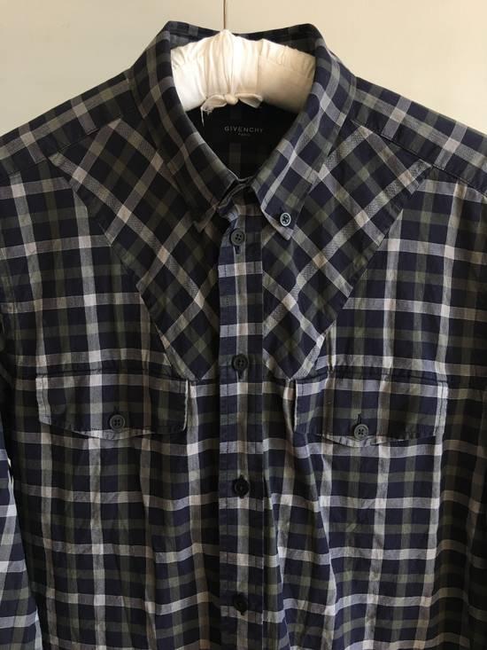 Givenchy Checked Cotton Shirt Size US M / EU 48-50 / 2 - 1