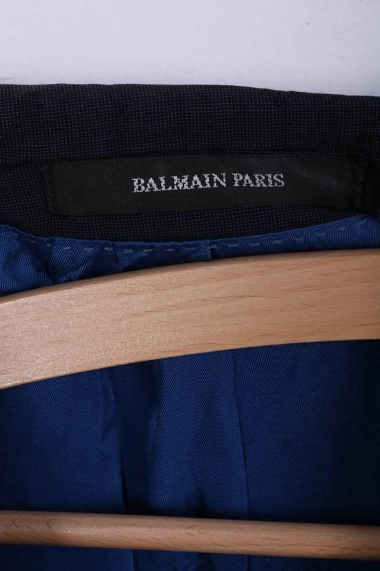 Balmain Balmain Mens 40 M Jacket Navy Wool Single Breasted Blazer 4515 Size 40R - 3