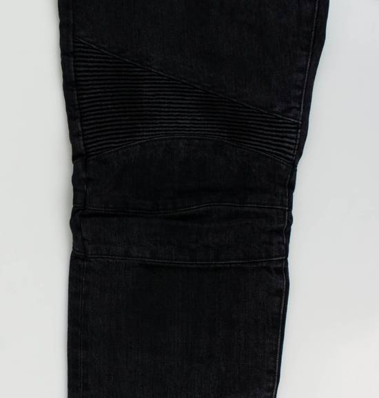 Balmain Black Cotton Denim Biker Jeans Size US 32 / EU 48 - 6