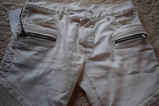 Balmain Balmain Authentic $1149 White Biker Jeans Size 31 Brand New With Tags Size US 31 - 1