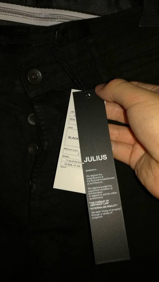 Julius Limited Wrinkle Arch Knee Bottom Zip Biker Jeans Size US 31 - 3