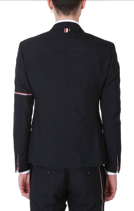 Thom Browne Brand New Thom Browne Arm Detailed Black Wool Blazer Size 46R - 2