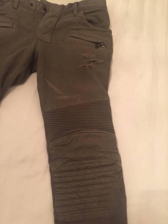 Balmain Green Moto Jeans Size US 31 - 5