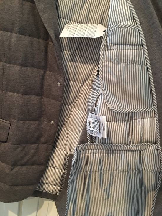 Thom Browne Gamme Bleu Quilted Down Blazer in Grey Size US XL / EU 56 / 4 - 3