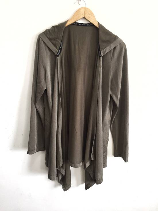 Balmain [ LAST DROP ! ] Authentic Silk Rayon Spell Out Unbuttoned Hoodie Size US M / EU 48-50 / 2 - 1